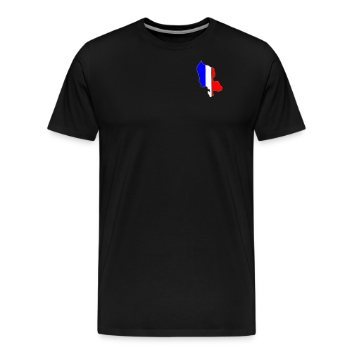 Carte Territoire de Belfort bleu blanc rouge - T-shirt Premium Homme
