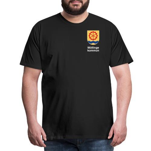 Möllinge kommun vit - Premium-T-shirt herr