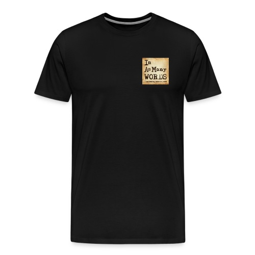 I AM Words LOGO_Brown - Men's Premium T-Shirt