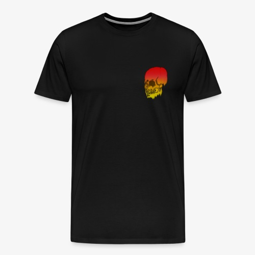 Red and yellow skull melting - Men's Premium T-Shirt