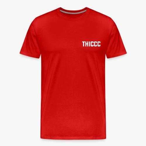 thiccc text logo WHITE - Men's Premium T-Shirt