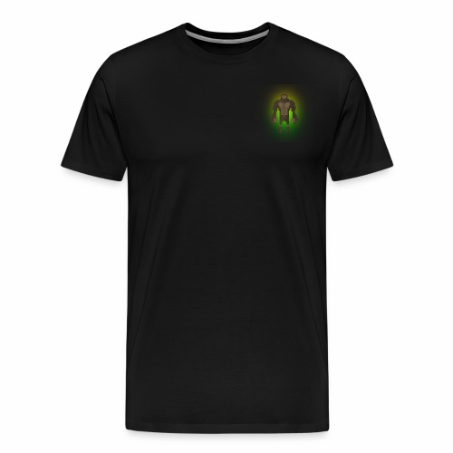 1980's Bigfoot Glow Design - Men's Premium T-Shirt