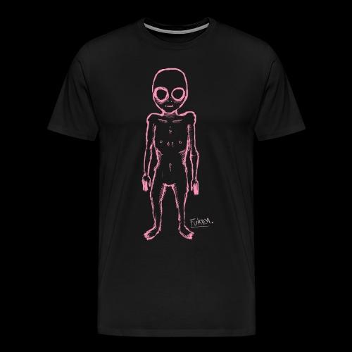 fuken pink alien png - Men's Premium T-Shirt