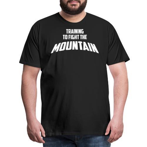 Fight the Mountain - Mannen Premium T-shirt
