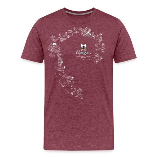 Divulgare 10º Aniversario - Camiseta premium hombre