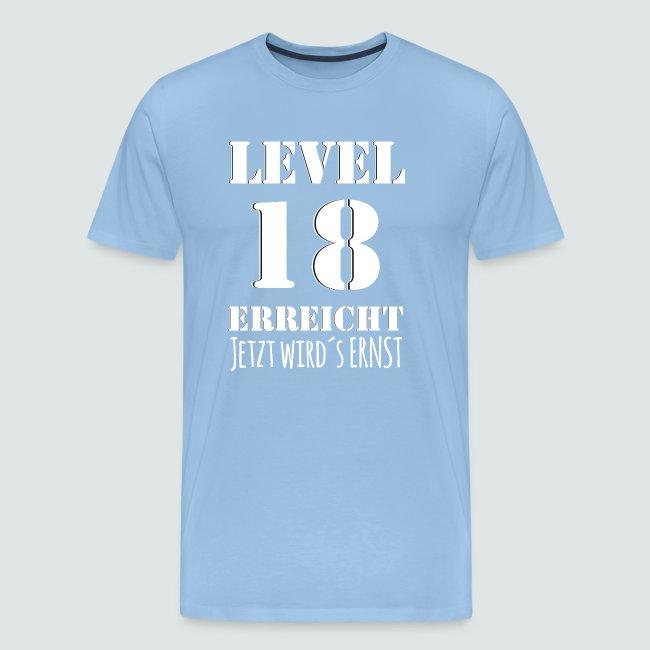18er Geburtstag - LEVEL 18 ERREICHT - MOTIV