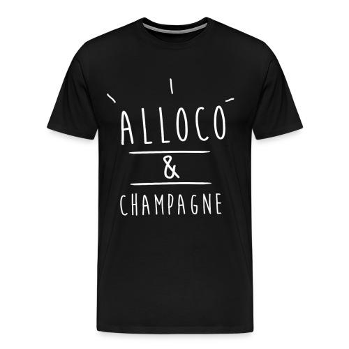 alloco et champagne png - T-shirt Premium Homme