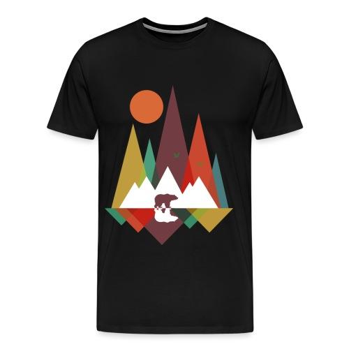 Bär in den Bergen - Männer Premium T-Shirt