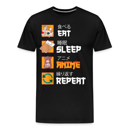 Comer Dormir Anime Repetir Anime Manga Japonés - Camiseta premium hombre