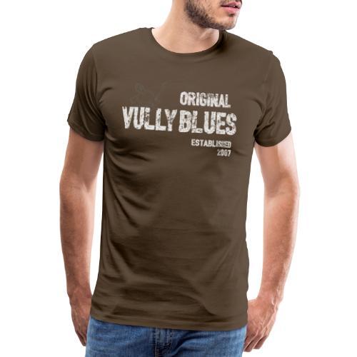 Ursprüngliches Vully Blues White Logo - Männer Premium T-Shirt