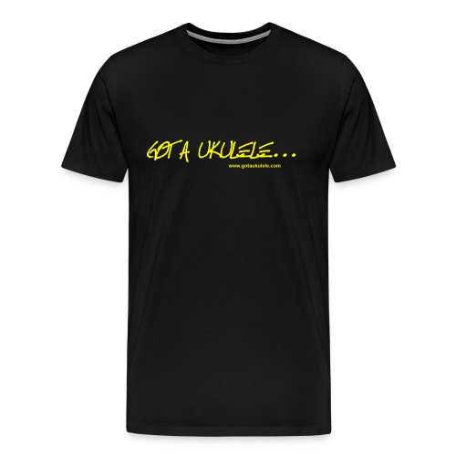 Official Got A Ukulele website t shirt design - Men's Premium T-Shirt