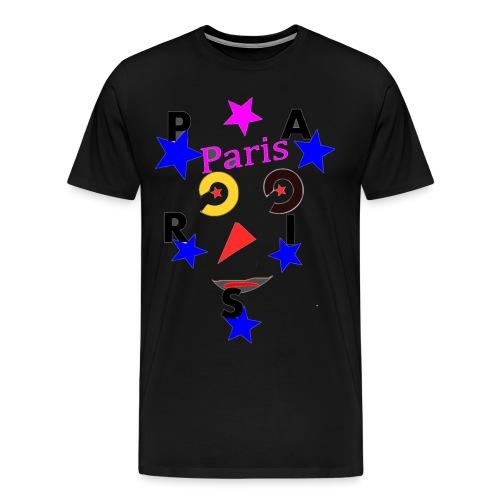 Paris avec etoile - T-shirt Premium Homme