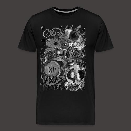 AGAC Picture Noir et Blanc - T-shirt Premium Homme