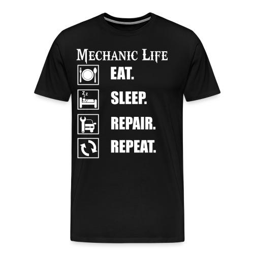 Das Leben als Mechaniker ist hart! Witziges Design - Männer Premium T-Shirt