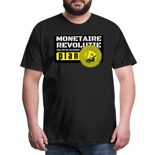Bitcoin Revolutie - Mannen Premium T-shirt