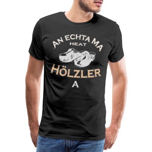 Hölzler Holzschuhe - Männer Premium T-Shirt