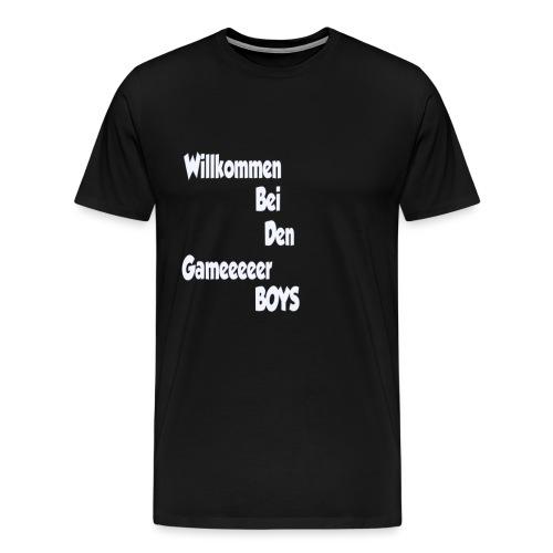 Begruessung Weiß - Männer Premium T-Shirt
