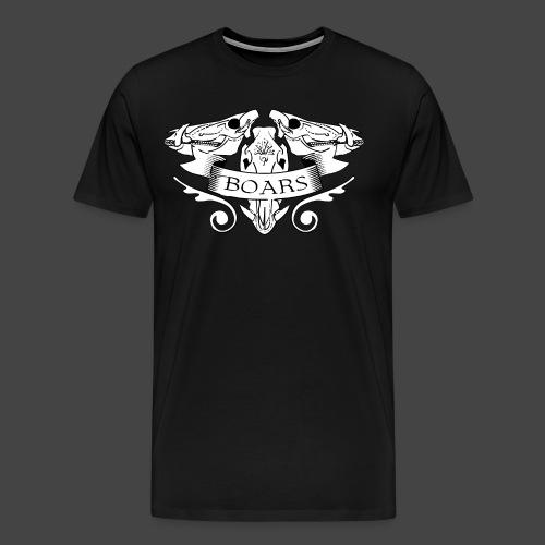Skully Boars Shirt - Männer Premium T-Shirt