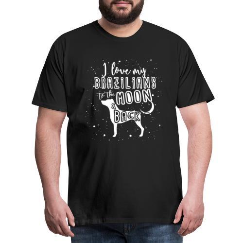 Brazilian Terrier Moon 3 - Miesten premium t-paita