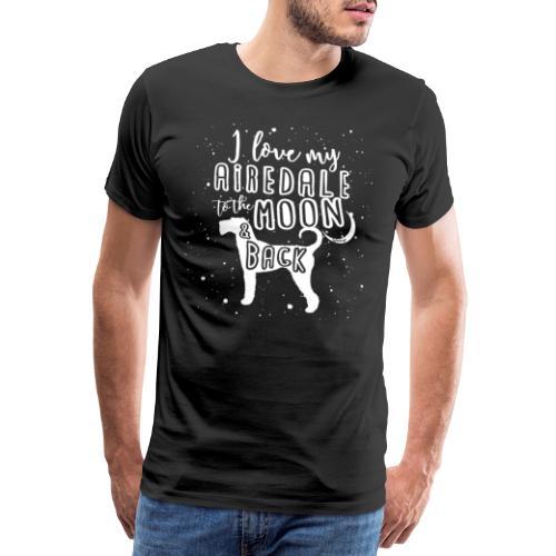 Airedale Moon 2 - Miesten premium t-paita