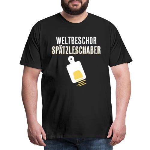 Spätzleschaber schwäbisches Geschenk kochen essen - Männer Premium T-Shirt