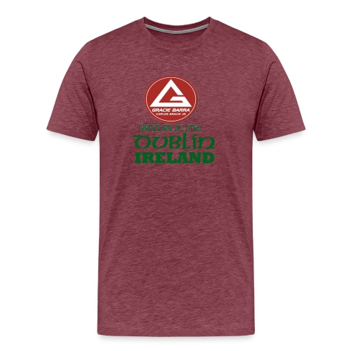 Gracie Barra Dublin Gaelic Celtic Font PNG - Men's Premium T-Shirt