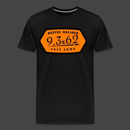 Kalibershirt 9,3x62 Jägershirt Vintage Style - Männer Premium T-Shirt