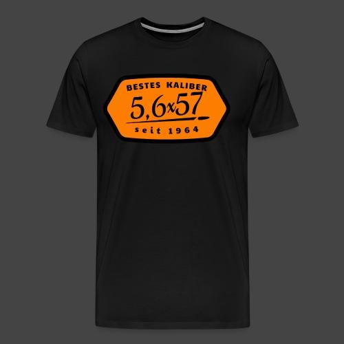 Kalibershirt 5,6x57 Jägershirt Vintage Style - Männer Premium T-Shirt