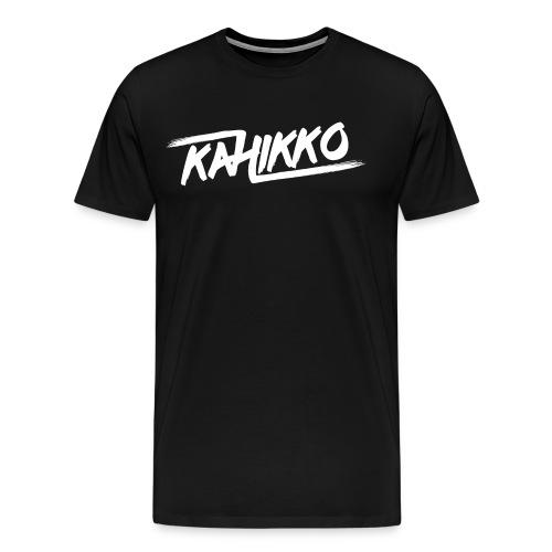 Kahikko Classic Logo White - Miesten premium t-paita