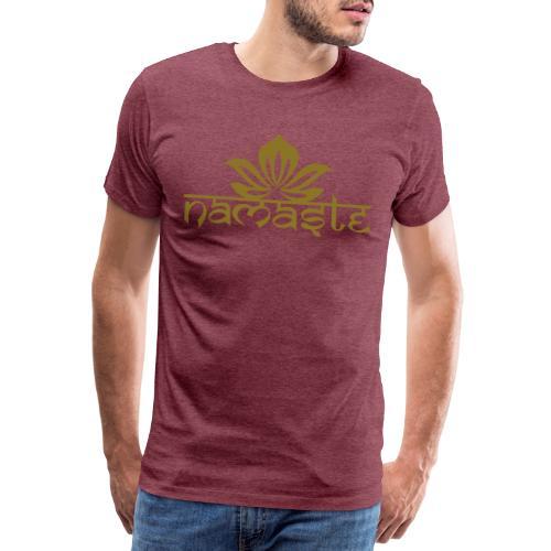 Namaste Lotus Yoga Motiv in Trendfarben MEGA - Männer Premium T-Shirt