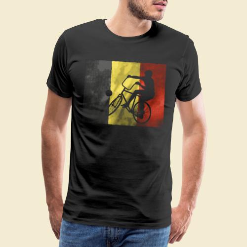 Radball   Flagge Belgien - Männer Premium T-Shirt