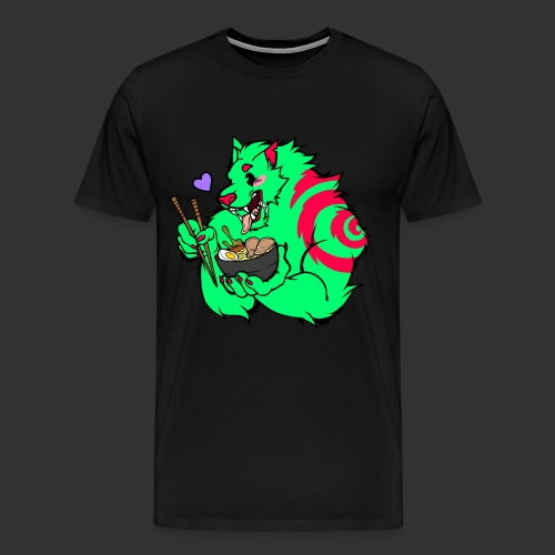 RAMEN WOLF - Men's Premium T-Shirt