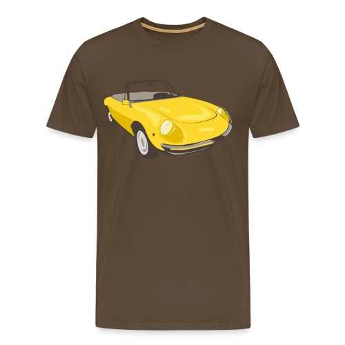 alfaromeospider01ayellow - Premium T-skjorte for menn