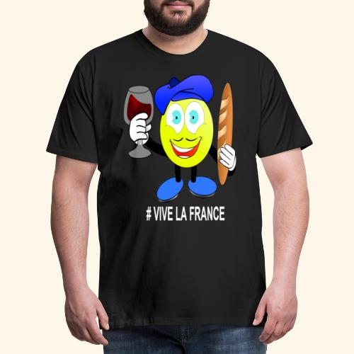 Vive La France Emoji - Men's Premium T-Shirt
