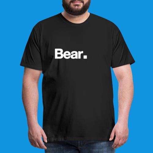 Bear. Retro Bag - Men's Premium T-Shirt
