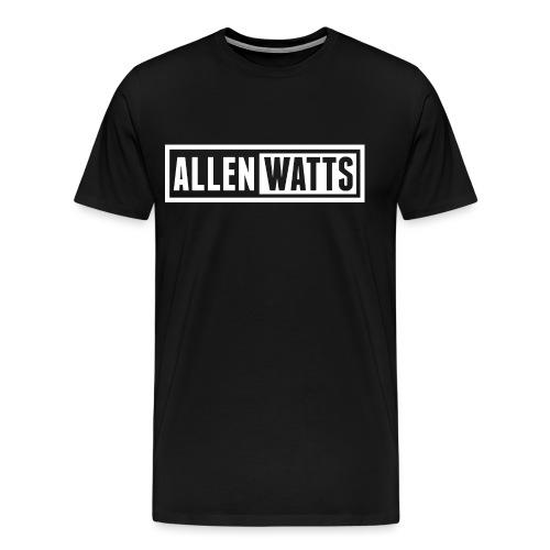 ALLEN WATTS LOGO TRANS WHITE - Mannen Premium T-shirt