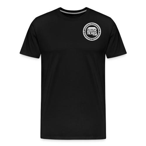 HouseHeadsRadio NEW LOGO 2 - WHITE - Men's Premium T-Shirt