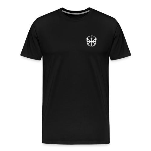 Hvit NAF logo - liten - Premium T-skjorte for menn