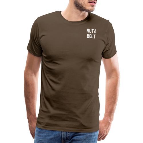 Brand Logo White by Nut & Bolt Apparel - Men's Premium T-Shirt