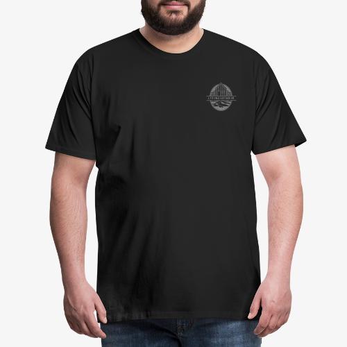 logo-hvitt-transp - Männer Premium T-Shirt