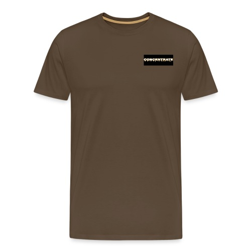 Concentrate on black - Men's Premium T-Shirt