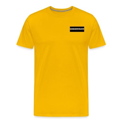 Concentrate on black - Men's Premium T-Shirt