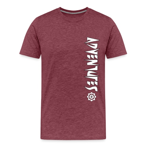Jebus Adventures Vertical Stripe - Men's Premium T-Shirt