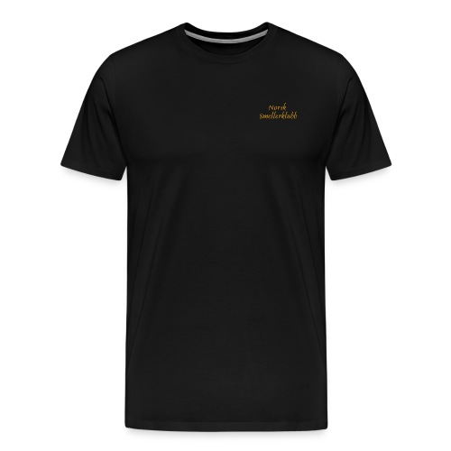 Norsk Smellerklubb logo 2 linjer png - Premium T-skjorte for menn