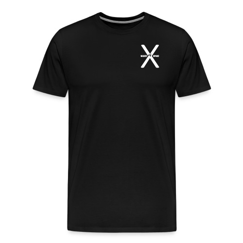 Waste of Space Logo black and white - Premium T-skjorte for menn