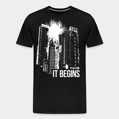 It begins White - Men's Premium T-Shirt
