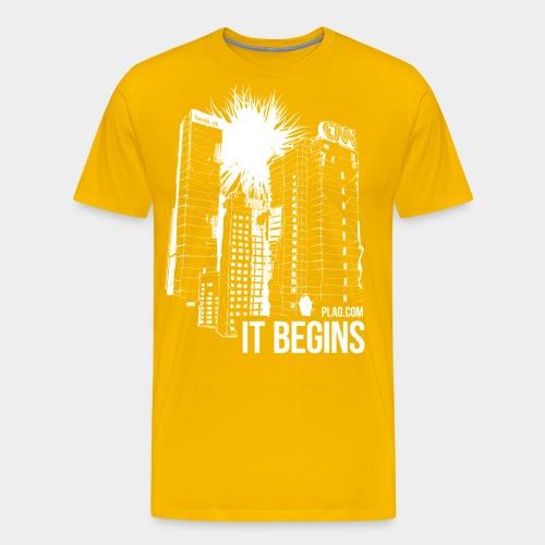 It begins White - Men's Premium T-Shirt