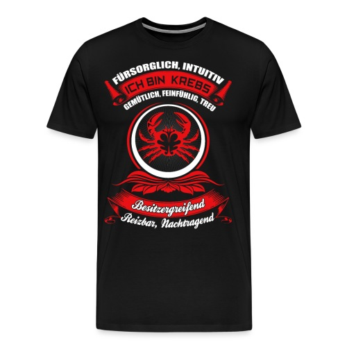 Krebs Sternzeichen Horoskop Geschenk - Männer Premium T-Shirt