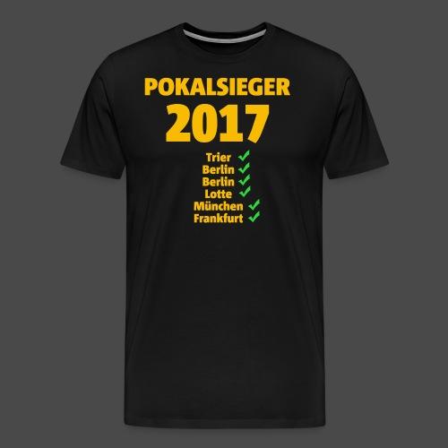 Pokalsieger 2017 gelb - Männer Premium T-Shirt