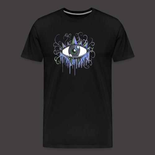 oeil vintage Bleu - T-shirt Premium Homme